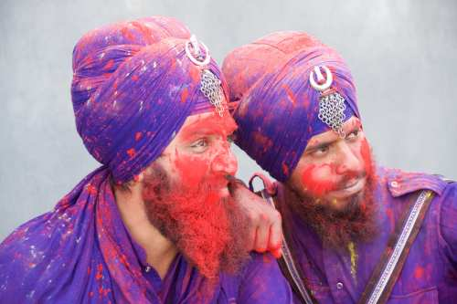Celebrating Holi at Hola Mahalla