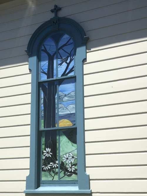 Charming Church Window Half Moon Bay