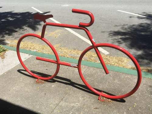 Bike Rack in Half Moon Bay