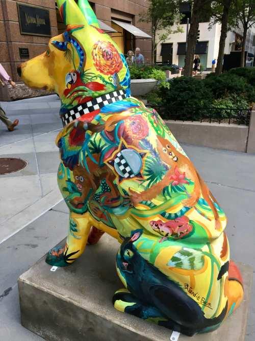 Police Dog Public Art Installation Chicago