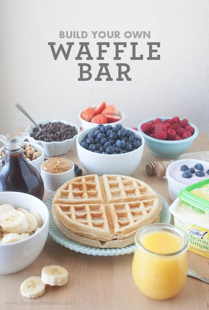 Build Your Own Waffle Bar | Ideas from Design Eat Repeat