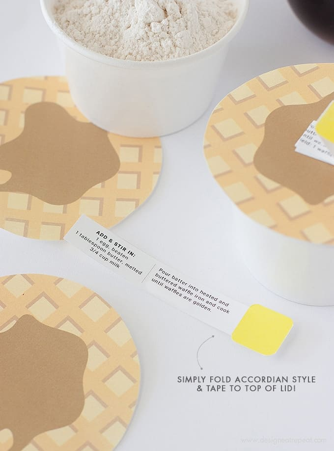 "DIY Waffle Mix | Includes link to the printable ""Waffle Lids"" so you can gift or store them in style!"