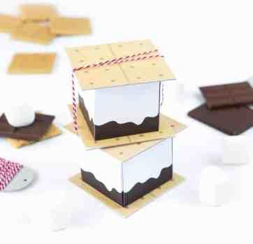 Free Printable S'more Treat Boxes