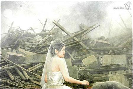 earthquake wedding