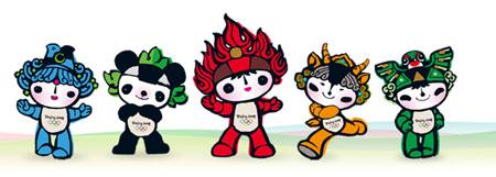 beijing olympic mascots