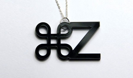 typography necklace