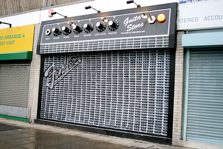 the guitar store