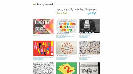 we love typography screenshot