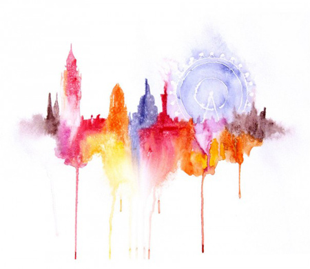 abstract-watercolor-paintings-famous-cities-elena-romanova-3-605x524