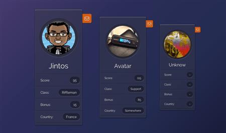 Profile-Widget-UI