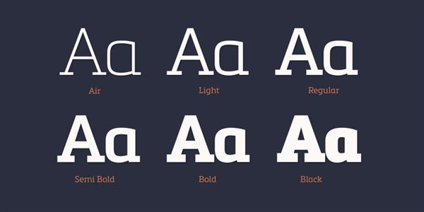 metronics slab serif fonts