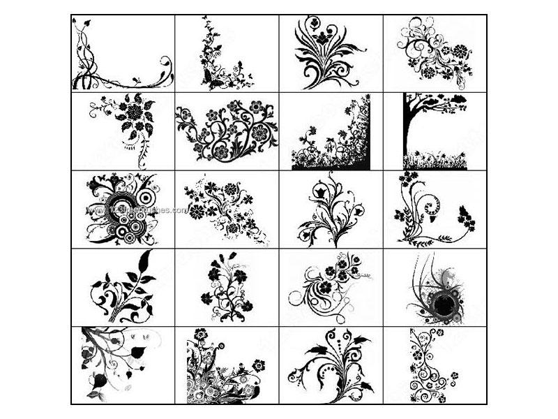 Descarga los 10 mejores pinceles gratis Photoshop de flores y árboles