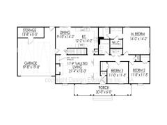 Carolyn floor plan with basement foundation