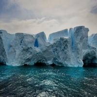Serene Icebergs by photographer Michael Leggero