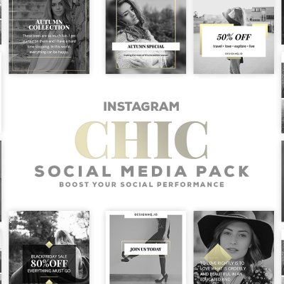Chic - Social Media Template Bundle - Design HQ