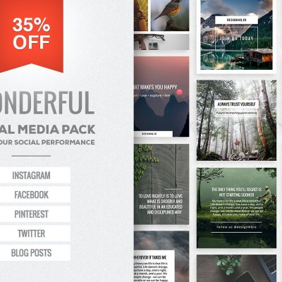 Wonderful - Social Media Template Bundle - Design HQ