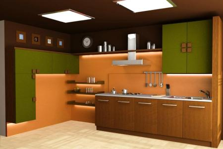 modular kitchen 3d designed images (2)