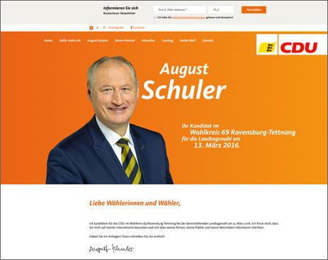 Internetseite August Schuler