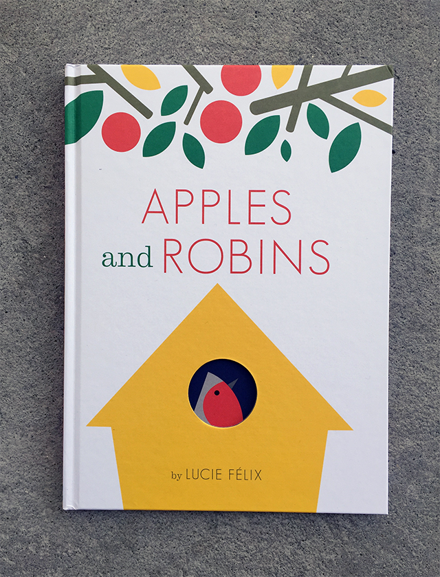 Apples and robins design of the picture book for Apple design book