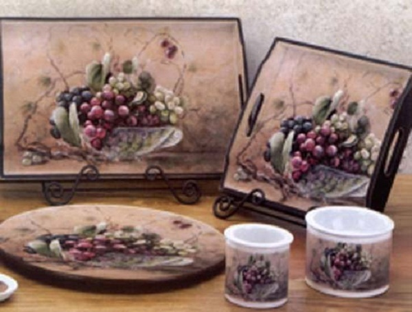 Buy kitchen wine and grapes decoration and get free