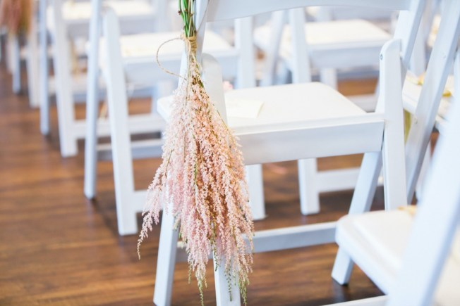 pink whimsical floral aisle decor