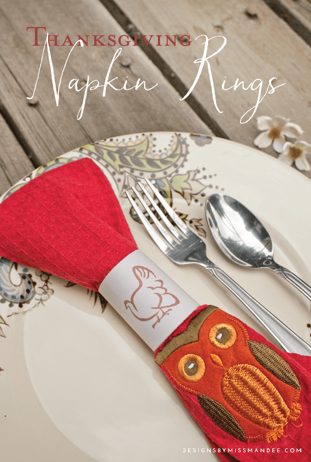 printable thanksgiving napkin rings designs by miss mandee. Black Bedroom Furniture Sets. Home Design Ideas