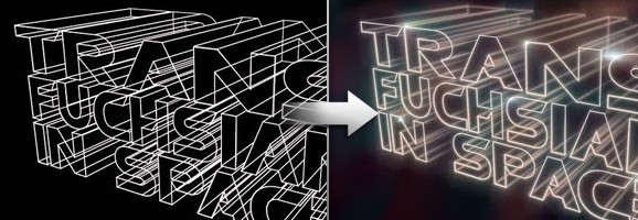 3D Light Streak text Effect