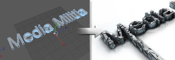3D Shattered Text Effect