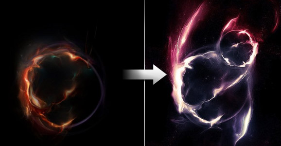 Create Awesome Abstract Nebula Circle Shape in Photoshop
