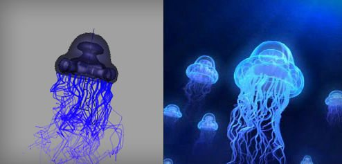 Jellyfish in The Ultimate Collection Of Maya 3D Tutorials