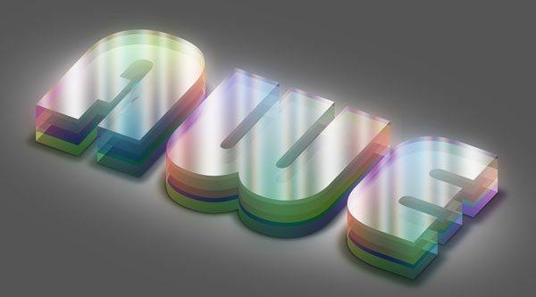 Colorful Plexi Text Effect using Photoshop
