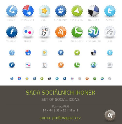 icon pack020 55 Free Social Networking PNG/ICO Icon Packs