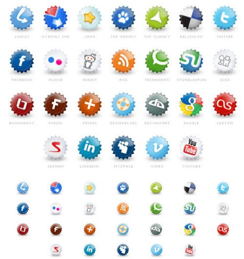icon pack051 55 Free Social Networking PNG/ICO Icon Packs