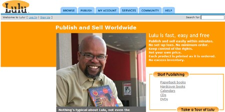 lulu web publishing