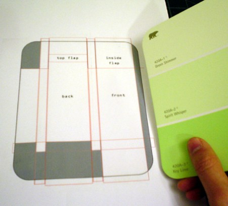 paint chip card holder DIY
