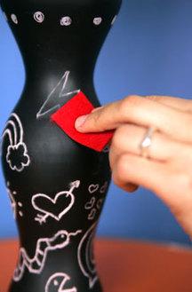 chalkboard vase