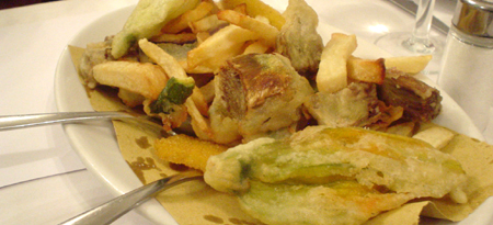 Florence i due G tempura vegetables