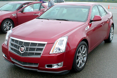 GM test drive detroit driving Cadillac CTS