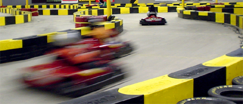 Go karting racing at pole position vegas