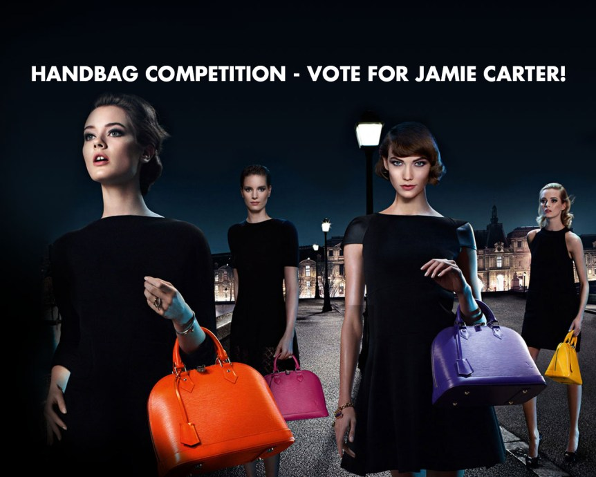 Handbag competition vote for Jamie Carter