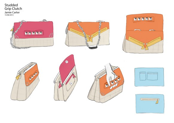 Jamie Carter's handbag design for competition