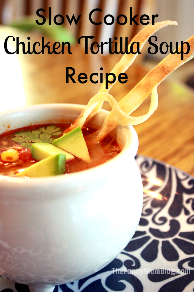 Easy La Morena Slow Cooker Chicken Tortilla Soup Recipe - The Funny ...