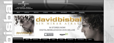 Web David Bisbal oficial