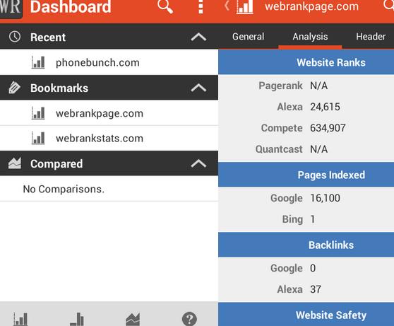 WebRank SEO aplicacion para Android