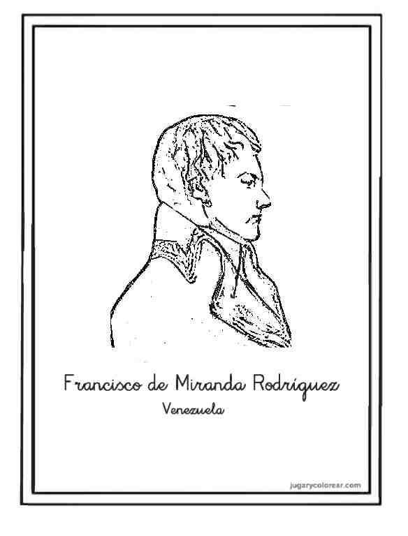 Dibujo para colorear de Francisco de Miranda Rodríguez