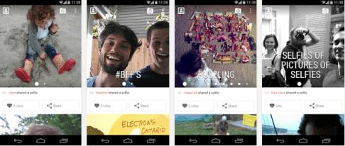 Aplicación de selfies para Android