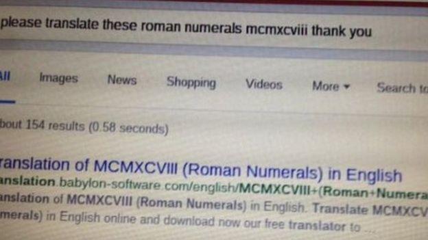 """""""Por favor, traduzca estos números romanos MCMXCVIII. Gracias"""""""