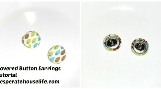 Covered Button Earrings Tutorial