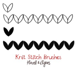 Free Knit-Stitch Photoshop Brushes
