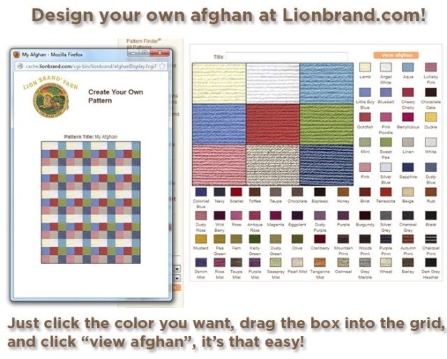 Make your own afghan pattern